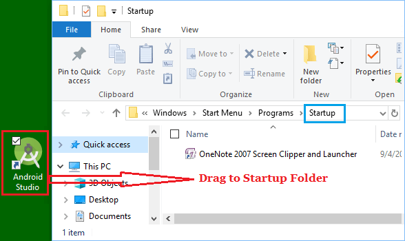 Add New Programs to Startup in Windows 10