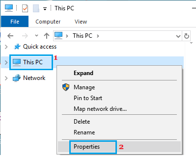 Open Windows System Properties