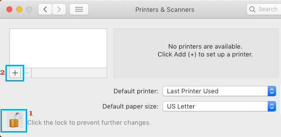 Add Printer to Mac Option
