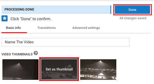 Set Thumbnail For YouTube Video