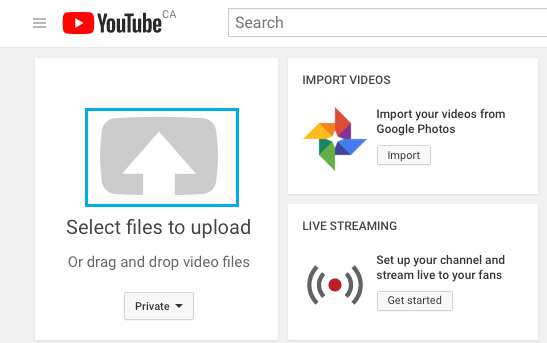 Upload Private Video to YouTube