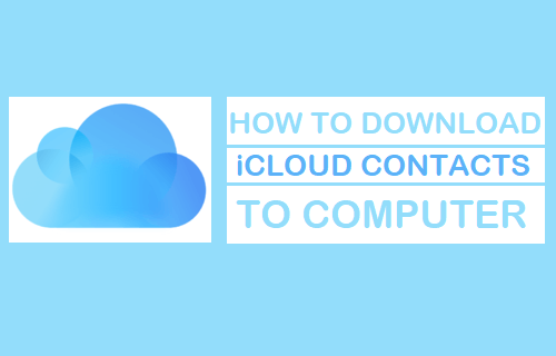 Download iCloud Contacts to Computer