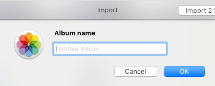Provide Name For New Photos Album on Mac