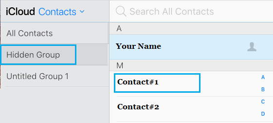 Contact Group Tab in iCloud