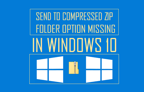 Send to Compressed Zip Folder Option Missing In Windows 10