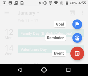 Select Type of Calendar Alarm on Android Phone