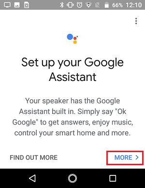 Setup Google Assistant Screen in Google Home App