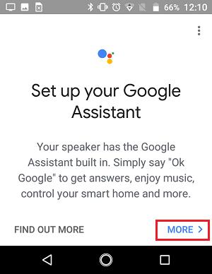 Setup Google Assistant Screen in Google Home App