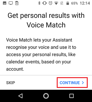 Setup Voice Match for Google Home Device
