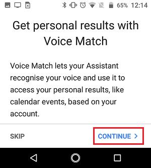 Setup Voice Match for Google Home Device