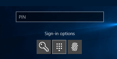 Login Using PIN In Windows 10