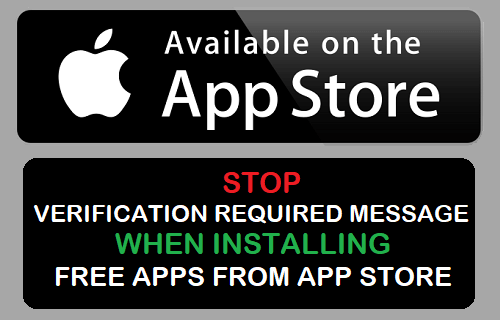 Stop Verification Required Message When Installing Free Apps