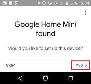Would you Like to Setup your Google Home Mini