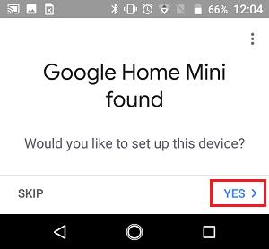 Would you Like to Setup your Google Home Mini