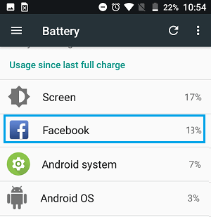 Battery Usage Details by Apps and Systems on Android Phone