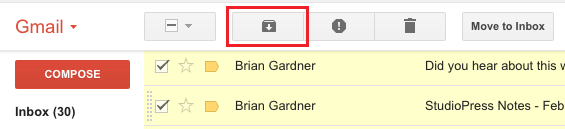 Archive Emails in Gmail