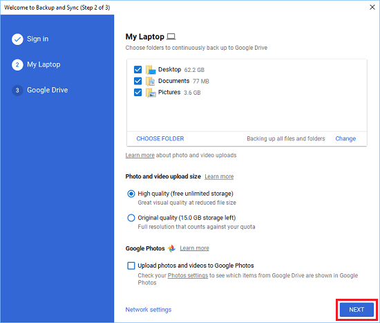 how to get pictures from google backup