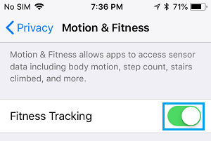 Enable Fitness Tracking on iPhone