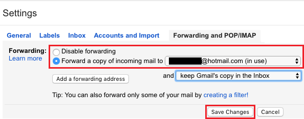 Forward Gmail Messages to Another Email Account