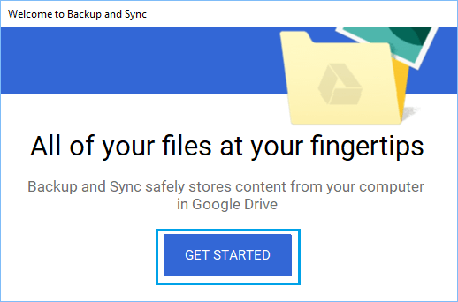 Get Started With Backup and Sync