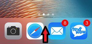 Swipe up on iPhone