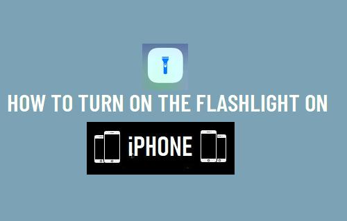 Turn On the Flashlight On iPhone