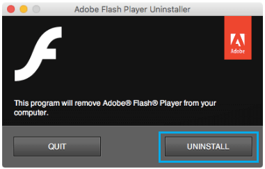 Uninstall Flash Player Popup on Mac