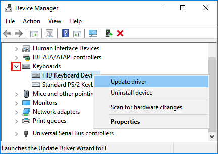 Update Keyboard Driver