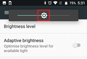 Adjust Brightness Level On Android Phone