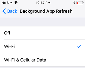 Use Wi-Fi Only for Background App Refresh