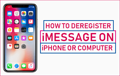Deregister iMessage on iPhone or Computer