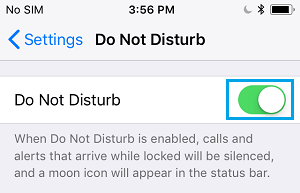 Enable Do Not Disturb Mode on iPhone