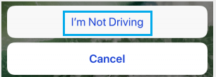 Turn Off Do Not Disturb While Driving On iPhone