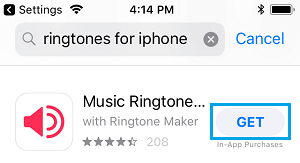 Purchase Ringtone From App Store on iPhone
