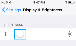 Adjust Brightness Level on iPhone