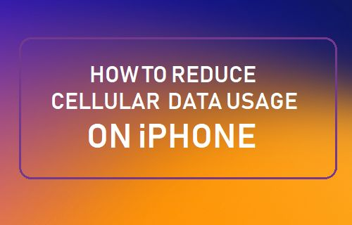 Reduce Cellular Data Usage on iPhone