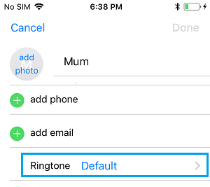 Change Ringtone for Contact on iPhone