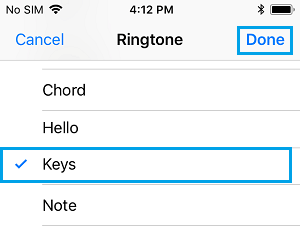 Select Ringtone for Contact on iPhone