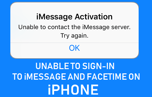 Unable to Sign-in to iMessage and FaceTime On iPhone