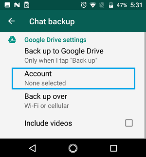 how to take messages backup from android phone