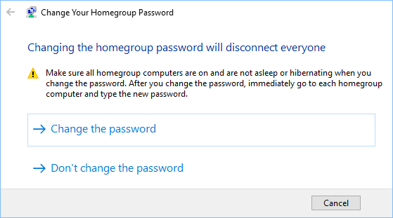 Change HomeGroup Password