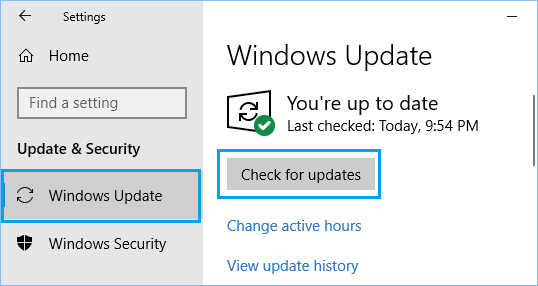 Check For Updates on Windows PC