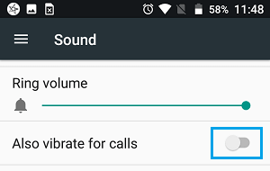 Disable Vibrations During Call on Android Phone