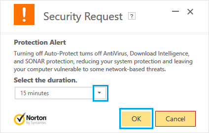 Disable Auto Protection on Windows PC