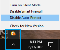 Disable Auto Protect Option in Norton Antivirus Program