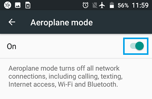 Turn on Aeroplane Mode on Android Phone