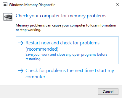 Check Windows Computer For Memory Problems