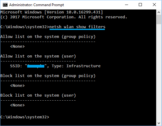 View Unblocked and Blocked WiFi Networks Using Command Prompt
