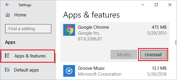 Uninstall Chrome Browser From Windows Computer