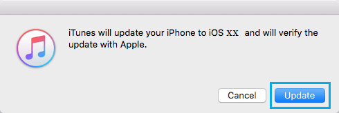 Update iPhone with iTunes